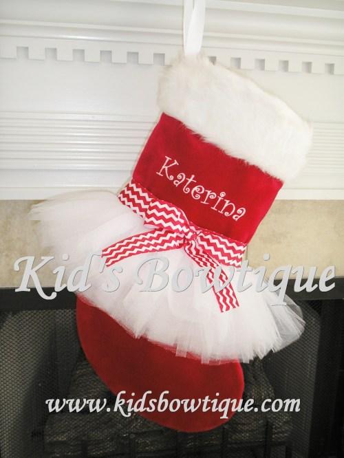 Medium Of Monogrammed Christmas Stockings
