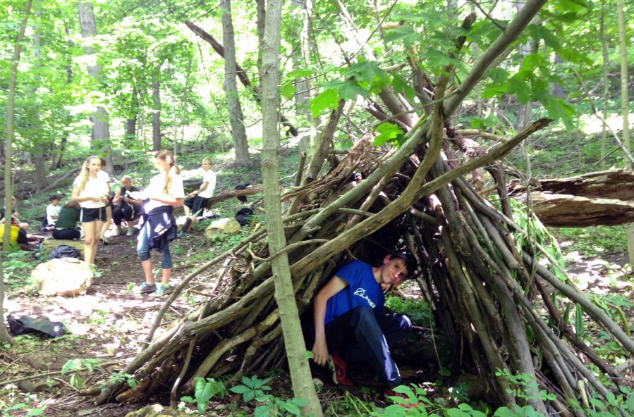 Pittsburgh Parks Conservancy Survival Camp 2014 shelter - image credit Pittsburgh Parks Conservancy