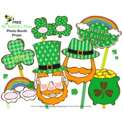 Flossy Families Day St Patricks Day Birthday Gifts St Patricks Day Birthday Images Se Free Photo Booth Props Will Make Memories Turn Day Into A Party inspiration St Patricks Day Birthday