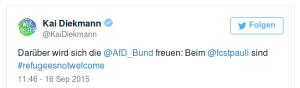 Darüber wird sich die @AfD_Bund freuen: Beim @fcstpauli sind #refugeesnotwelcome