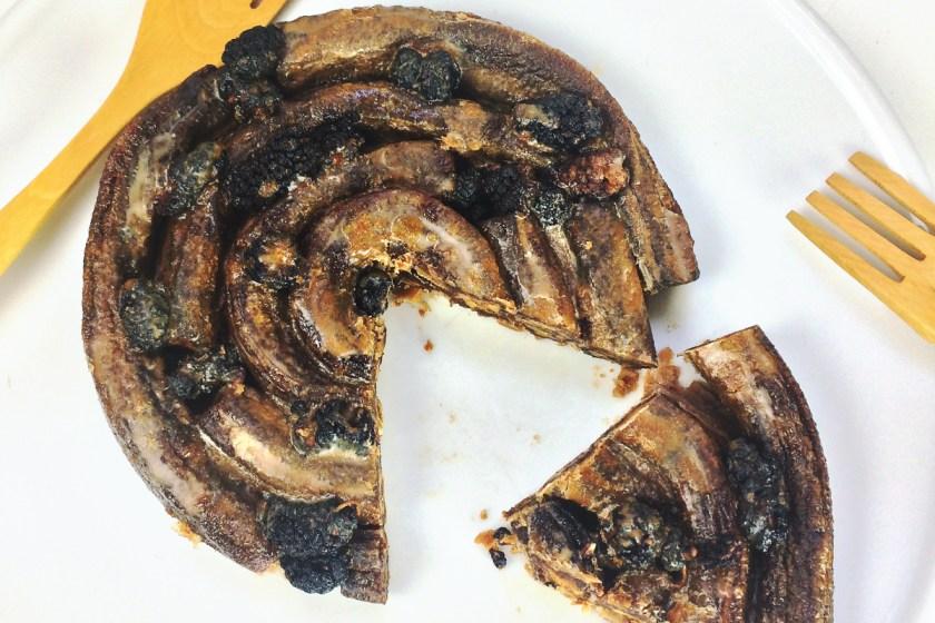 Caracolas frutarianas con moras negras