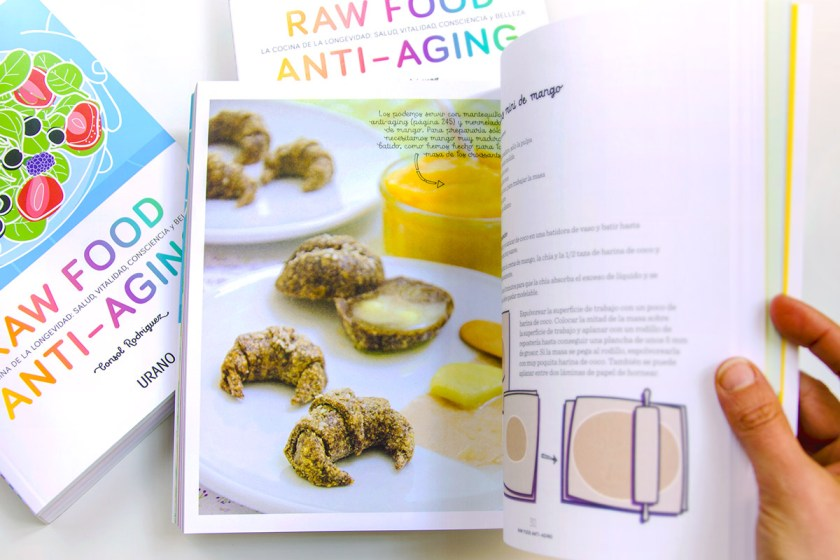 Mi libro, Raw Food Anti-aging. Croissants