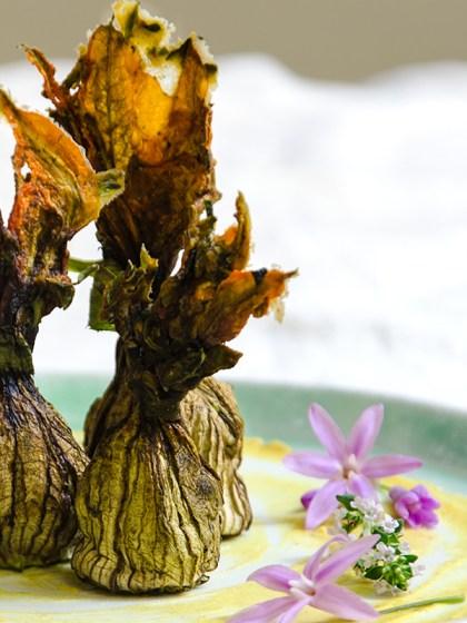 Pasitas de flor de calabacín