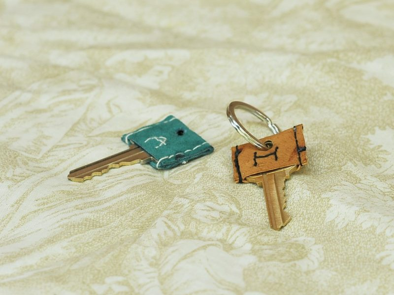 DIY: Make Your Own Leather Key Covers