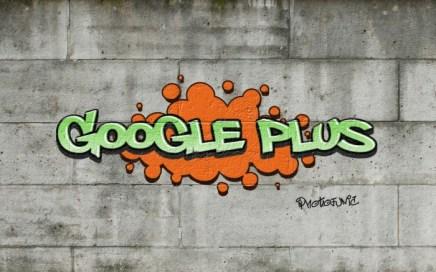 Google Plus Graffiti