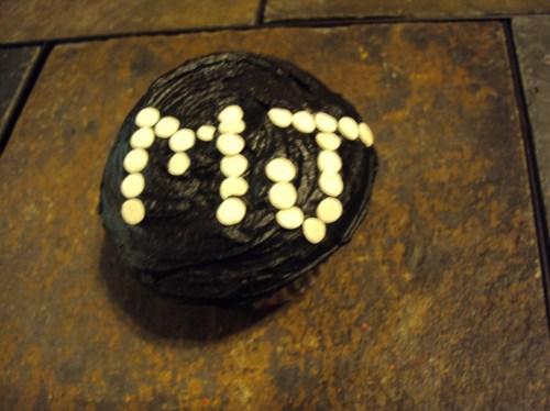 black frosting white candy michael jackson cupcake