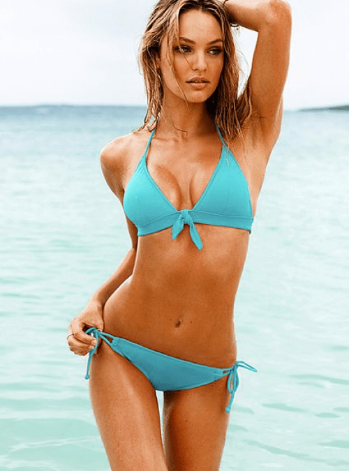 victoria's secret turquoise daisy push-up swimsuit