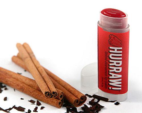 hurraw! cinnamon tinted natural lip balm
