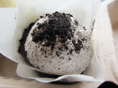 Cookies and Cream Cupcake from Roland Park Bagel Co.