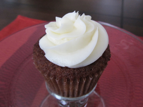 carrot cake cupcake from midnite confection's in baltimore maryland