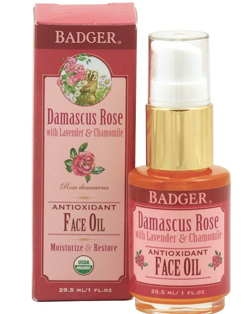 badger organic damascus rose antioxidant face oil