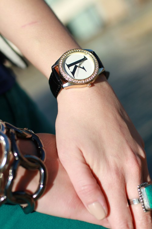 "kimberlyloc ""k"" initial watch and bracelets"