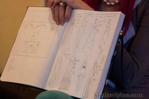 kansas city fashion week designer michelle of little shell designs sketchbook