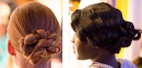{From intricate to old-world glamour, these two updos played with texture and softness in a way that wasn't too formal.}