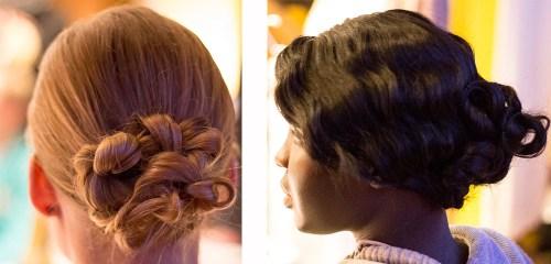hair updos kansas city fashion week backstage beauty