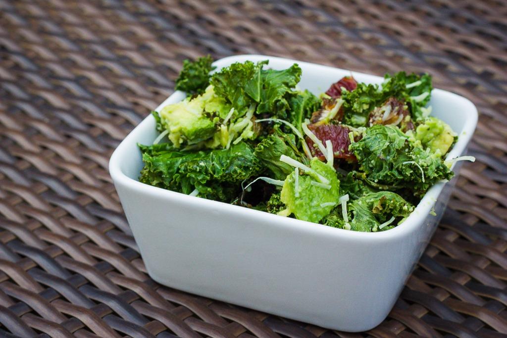 Miss L's kale salad