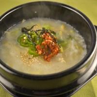 Kongnamul gukbap - soybean sprouts soup