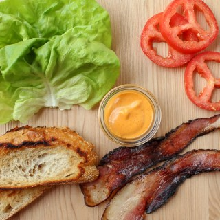 BLT with Gochujang Aioli