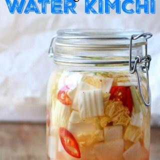 refreshing summer water kimchi
