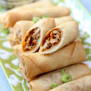 Kimchi egg rolls are packed with juicy ground pork, spicy kimchi, and plenty of vegetables, all wrapped up in a light and crispy wrapper. |www.kimchichick.com