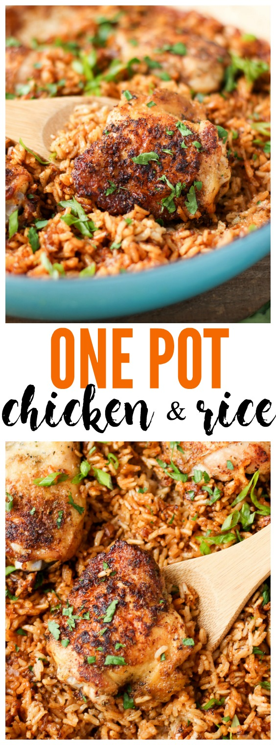 One-Pot Chicken and Rice is comforting, easy to make, and perfect for a no-fuss weeknight dinner! |www.kimchichick.com