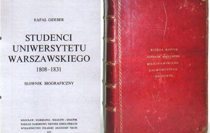 Pierwszy student Uniwersytetu Warszawskiego