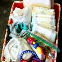 Emergency Diaper Kit for the Car