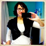 Brilliant marriage of knit and crochet, and a very fun project to make. I wore it to Knit City.