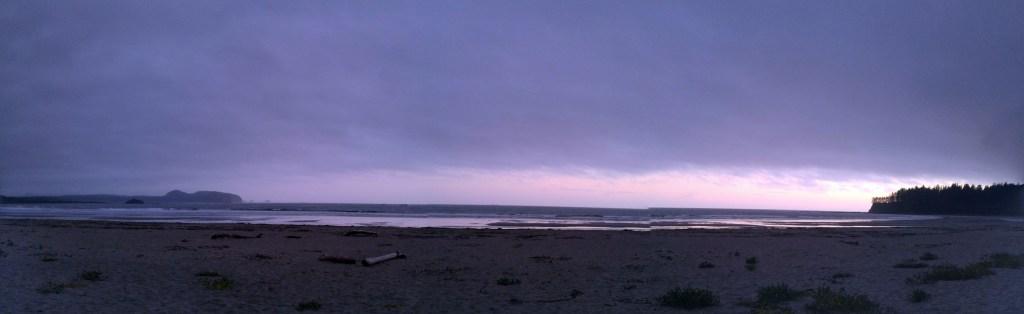 Hobuck Beach sunset panorama