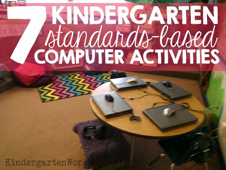 7 kindergarten standards-based computer activities