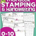 monster stamping and handwriting numbers