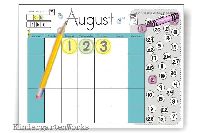 Kindergarten Calendar Time Common Core : Calendar time binders teaching common core standards