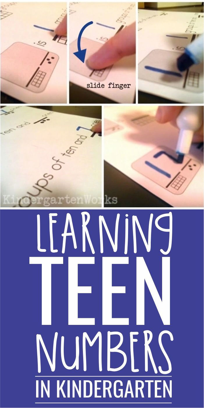 learning teen numbers in kindergarten how to compose and decompose numbers