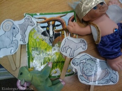 retell literacy center activity - The Three Billy Goats Gruff
