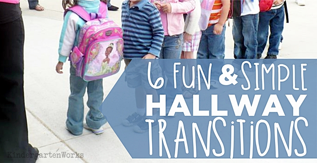 6 Fun and Simple Hallway Transitions {Printable} KindergartenWorks