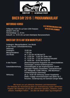 Programmablauf Bikerday 2015