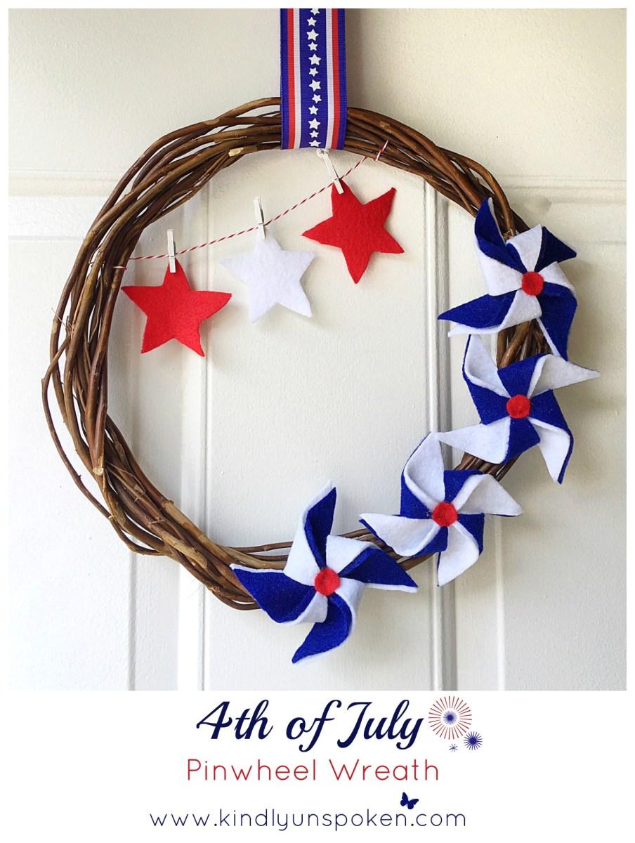 4th of July Pinwheel Wreath-DIY