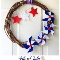 4th of July Pinwheel Wreath Kindly Unspoken
