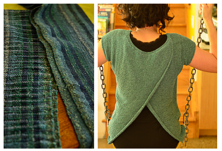 Wlin's handwoven scarves and Anna's newest project