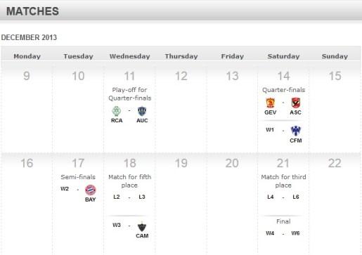 CWC Schedule