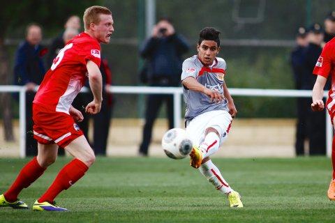 Abdallah Gomaa scores vs SC Freiburg