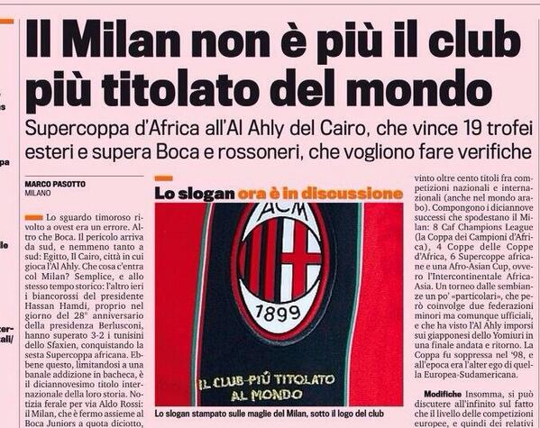 Al Ahly dispatch Milan