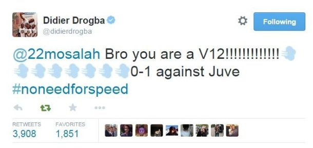 Drogba twitter reacts