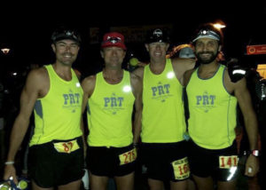"""PRT """"Mountain Division"""" at Avalon 50. Mike, Rob, Steve and me. We'd all Top 10 this race, with fellow teammate Fern blazing into 2nd in his first ultra!"""