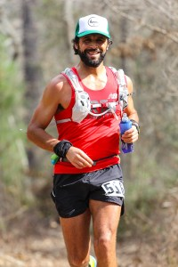 Mid race (I can tell by the smiling) at the Rocky Raccoon 100