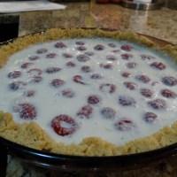 Raspberry Lime Pie with Tequila-Raspberry Sauce