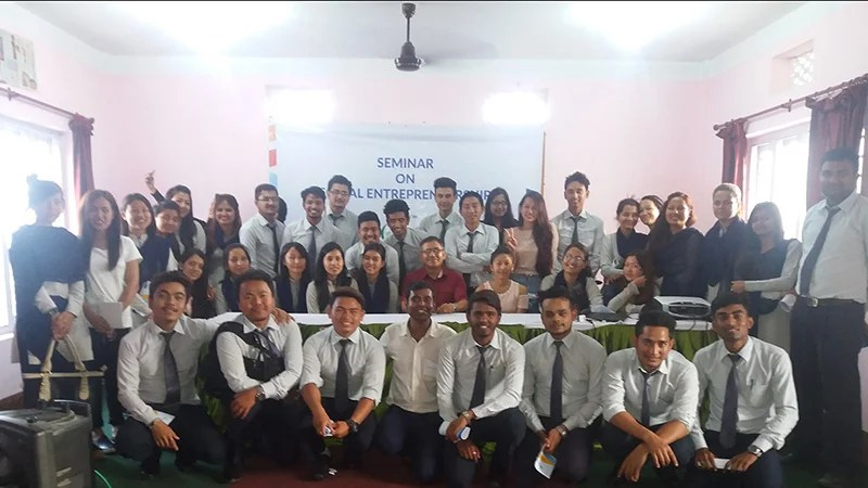 Students of Dharan learn Business Model Canvas