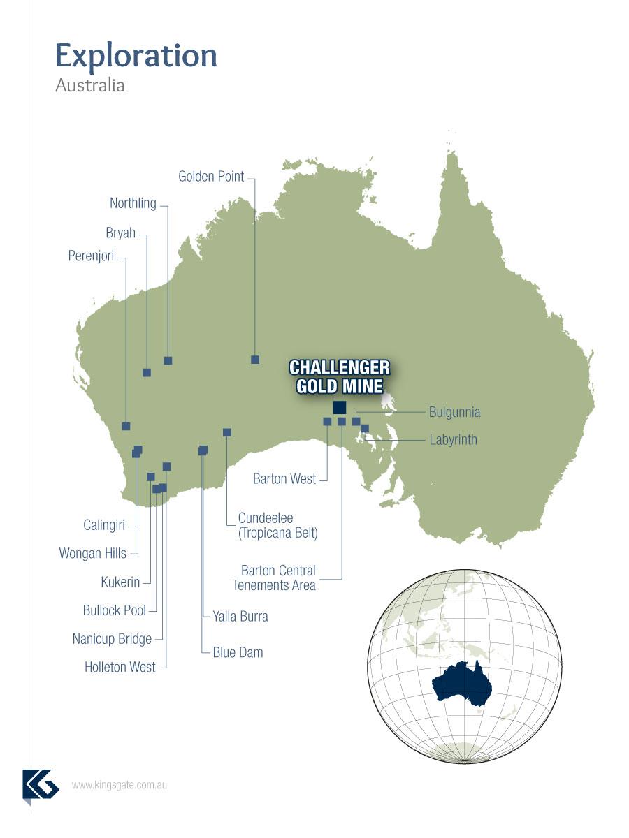 Australian Exploration Tenement Location Map