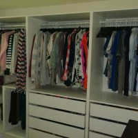 Open Plan storage with IKEA PAX Wardrobes