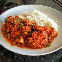 Recipe - Bengali Mushroom and Pea Curry